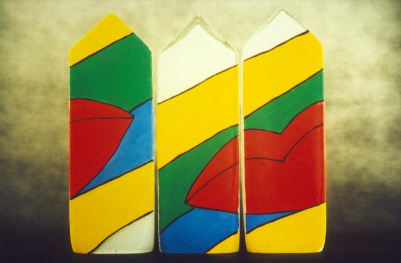 16 Variable Lippen I Haus Triptychon 1993